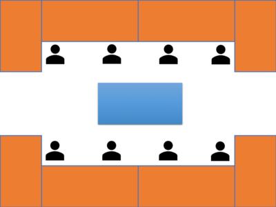 アイランド方式の設計ルーム
