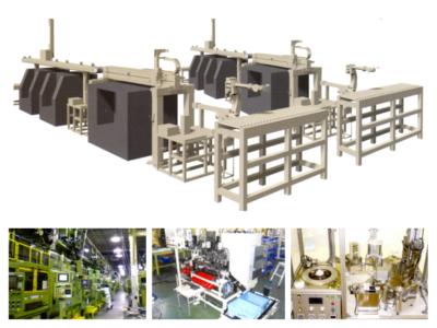図2 同社が製造するシステム一式のCGイメージと写真の一例