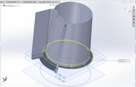図2 今回の研修で取り上げた同社で製作しているダイカスト金型部品のモデリングの様子
