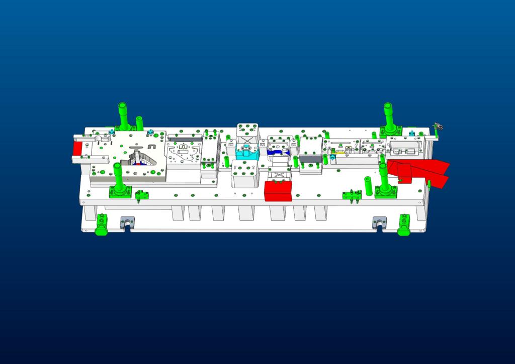 図1 同社で3次元設計された順送型の事例